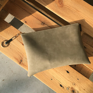 Square Clutch - ash khaki /20%SALE/