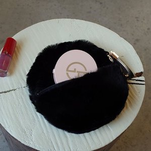 [Pouch] Fur Circle Black /30%SALE/